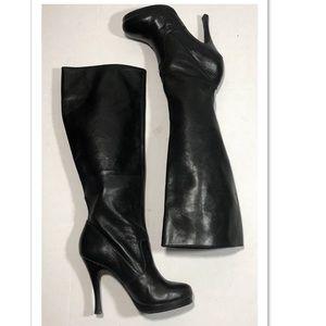 BCBGeneration Tall Leather Platform Boots